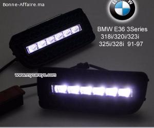 BMW E36 M3 318i 320i 323i 325i 328i DRL LED driving lights a