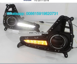 Hyundai i10 LED cree DRL day time running lights driving day