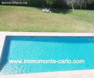 Location villa avec piscine Rabat Souissi
