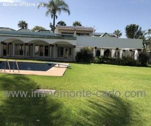 Villa  à louer avec chauffage central et piscine à souissi