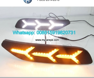 VW POLO LED cree DRL day time running lights driving dayligh